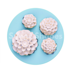 SILICONE MOULD DAHLIA 4PC