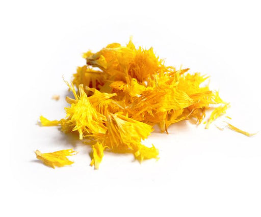 DRIED EDIBLE ORGANIC CORNFLOWER YELLOW 2G