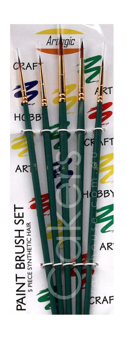 PAINT BRUSH 5PC GREEN
