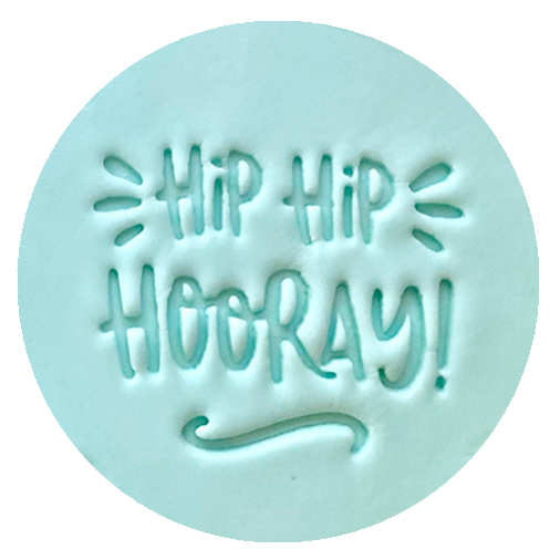 STAMP EMBOSSER 'LITTLE BISKUT' HIP HIP HOORAY!