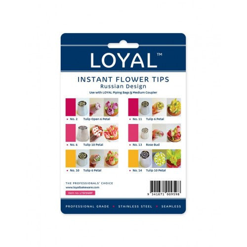 PIPING TIP SPECIALTY FLOWER 6PC