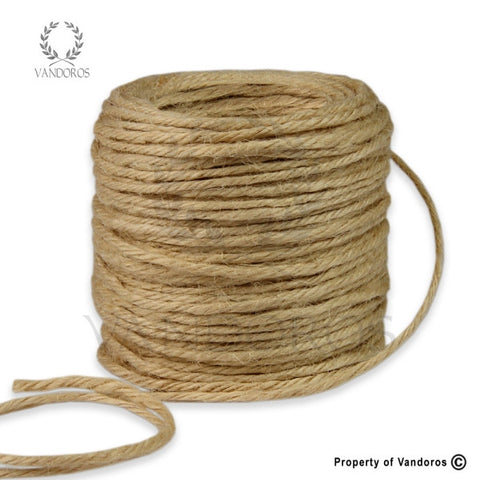 RIBBON BURLAP NATURAL 2MM