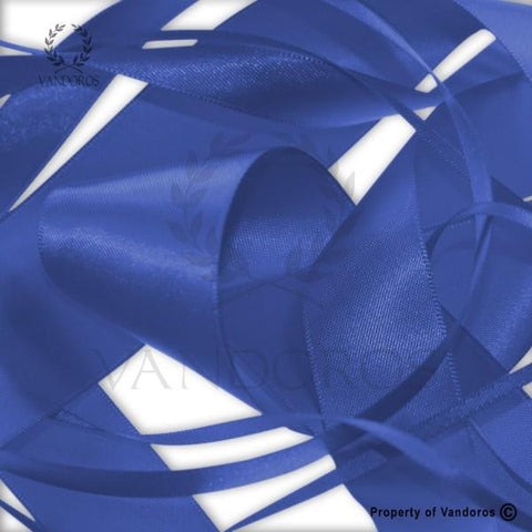 RIBBON POLY SATIN BRIGHT BLUE 25MM
