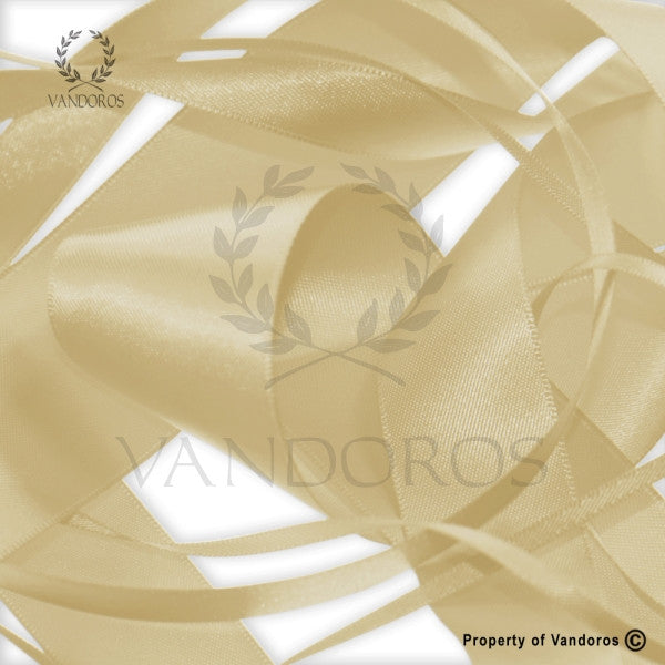 RIBBON POLY SATIN GOLD 25MM