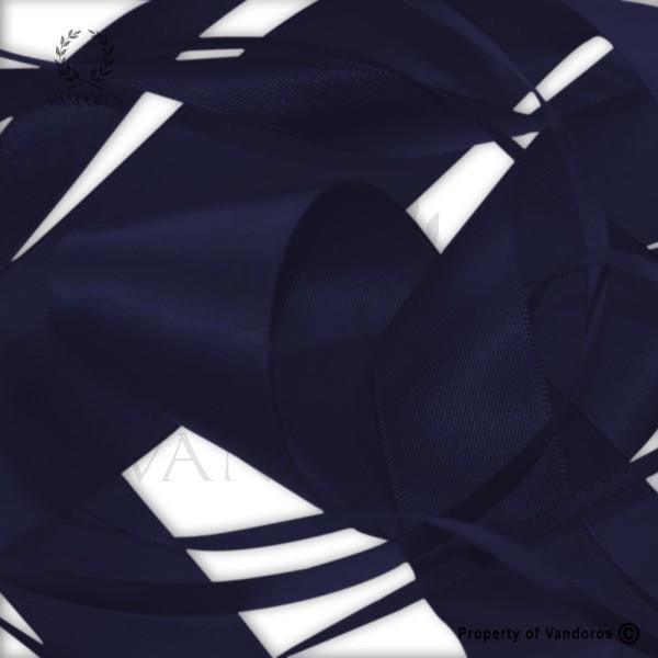 RIBBON POLY SATIN NAVY 15MM