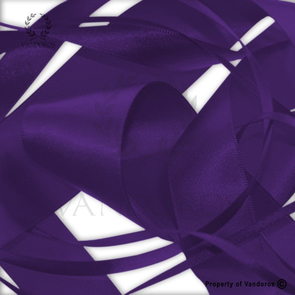 RIBBON POLY SATIN PURPLE 38MM