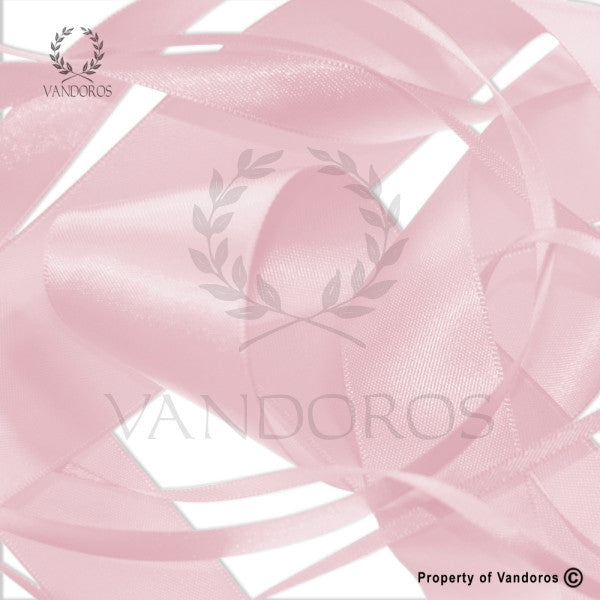 RIBBON POLY SATIN POWDER PINK 38MM