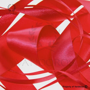 RIBBON POLY SATIN RED 6MM