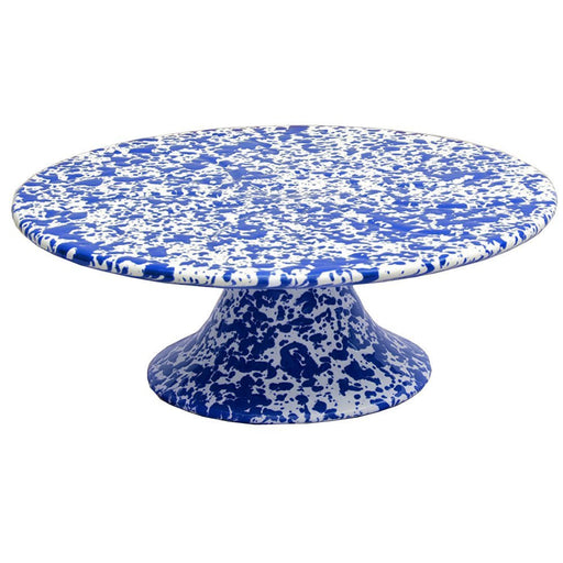 CAKE STAND MARBLE BLUE/WHITE