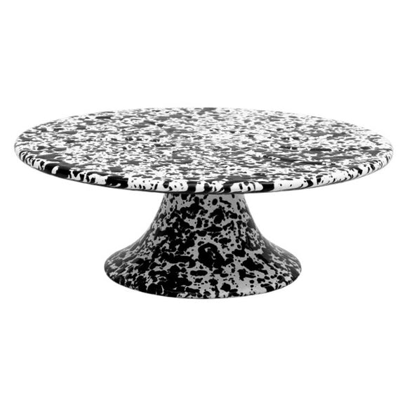 CAKE STAND MARBLE BLACK/WHITE