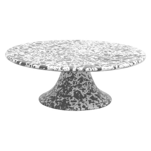CAKE STAND MARBLE GREY/WHITE