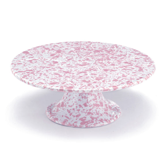 CAKE STAND MARBLE PINK/WHITE