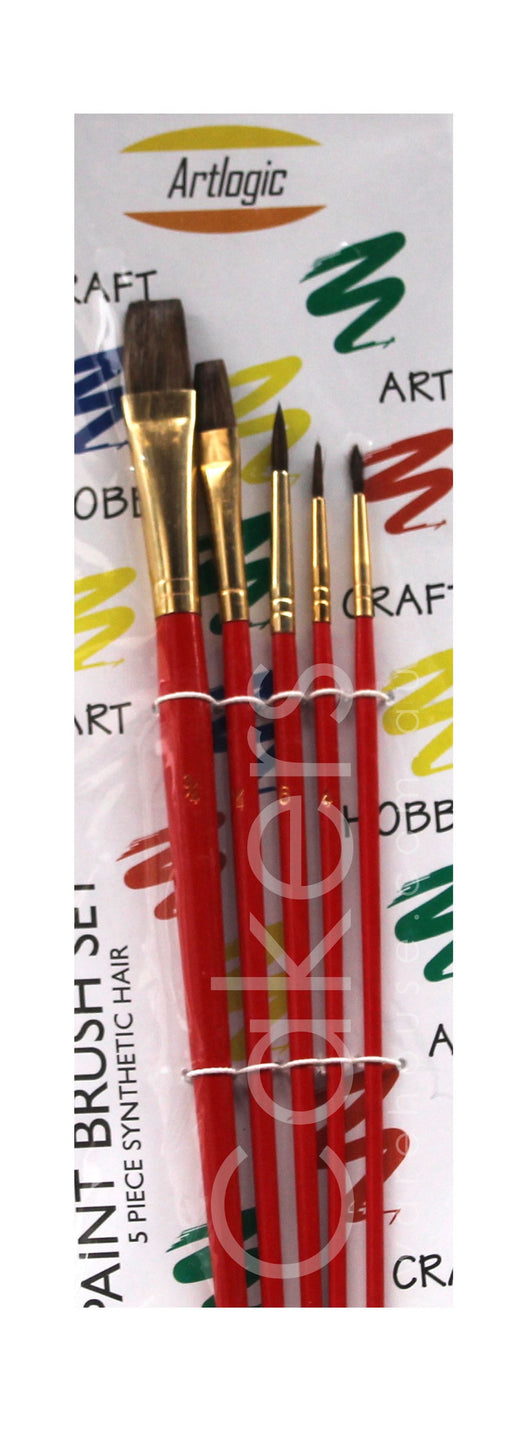 PAINT BRUSH 5PC RED