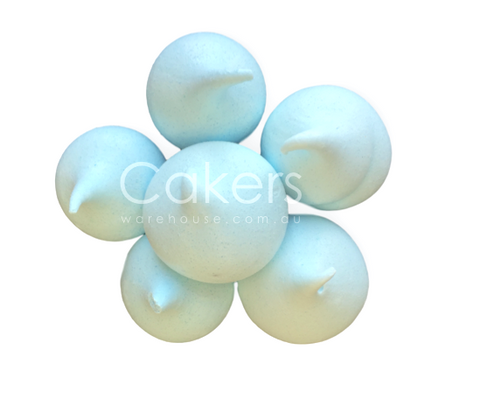 MERINGUE KISSES BABY BLUE 6PC
