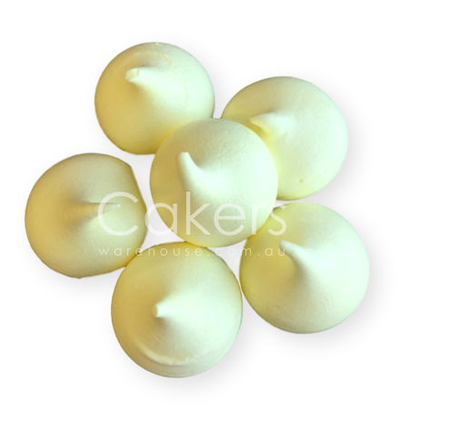 MERINGUE KISSES LEMON YELLOW 6PC