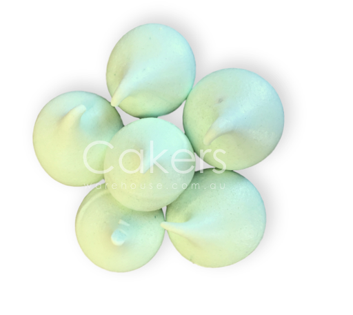 MERINGUE KISSES MINT GREEN 6PC