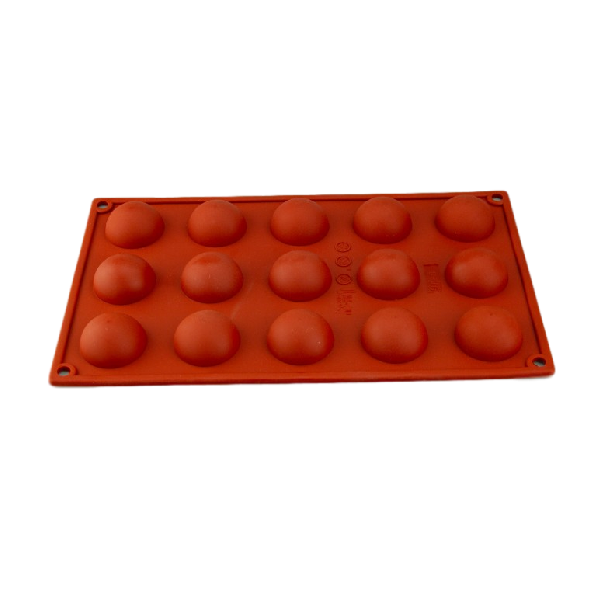 SILICONE MOULD HALF SPHERE 40MM