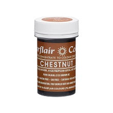 SUGARFLAIR PASTE 25G CHESTNUT