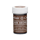 SUGARFLAIR PASTE 25G DARK BROWN