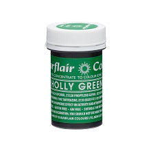SUGARFLAIR PASTE 25G HOLLY GREEN