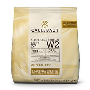 CALLEBAUT CHOCOLATE 400G W2 WHITE