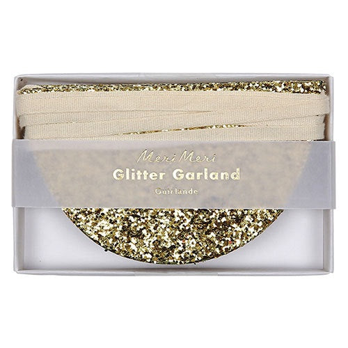 GARLAND GLITTER GOLD SCALLOP