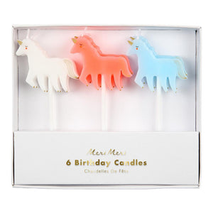 CANDLES UNICORN 6PC