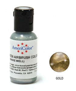 AMERICOLOR AIRBRUSH COLOUR 0.65OZ GOLD SHEEN