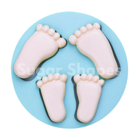 SILICONE MOULD BABY FEET 2PC
