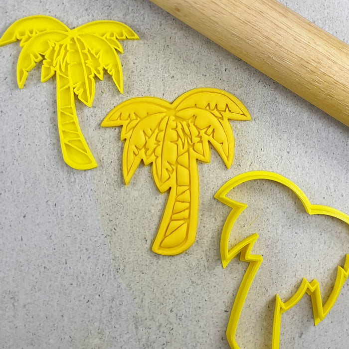 STAMP EMBOSSER WITH CUTTER PALM TREE