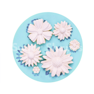 SILICONE MOULD DAISY FLOWER ASSORTED 6PC