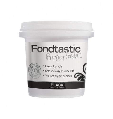 FONDTASTIC GUM PASTE 225G BLACK