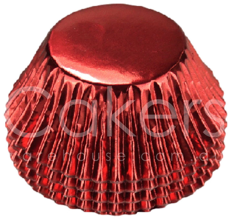 CUPCAKE FOIL 398 RED 50PC