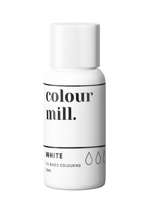COLOUR MILL OIL BASED COLOURING 20ML WHITE