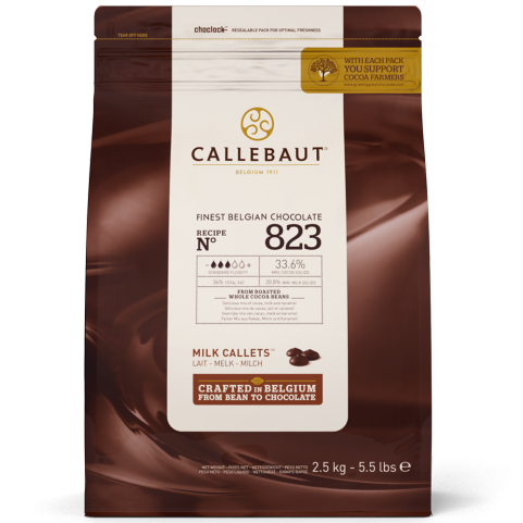 CALLEBAUT CHOCOLATE 2.5KG 823NV MILK
