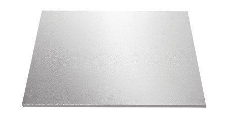 MASONITE BOARD SQUARE SILVER 10""