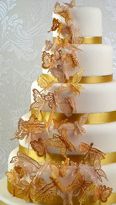 CAKE LACE MAT BEAUTIFUL BUTTERFLIES 3D