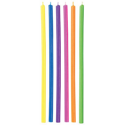 CANDLE LONG MULTICOLOUR 12PC