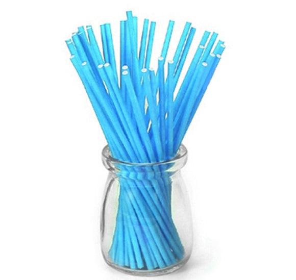 LOLLIPOP STICKS 15CM 50PC BLUE