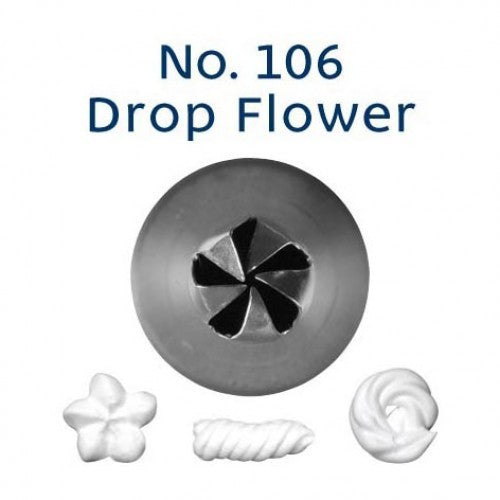 PIPING TIP DROP FLOWER #106