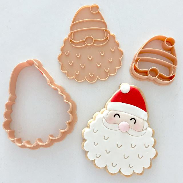 STAMP EMBOSSER WITH CUTTER 'LITTLE BISKUT' SANTA