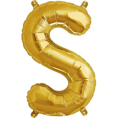 "ALPHABET BALLOON GOLD 16"" S"