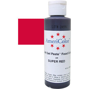 AMERICOLOR GEL COLOUR 4.5OZ SUPER RED