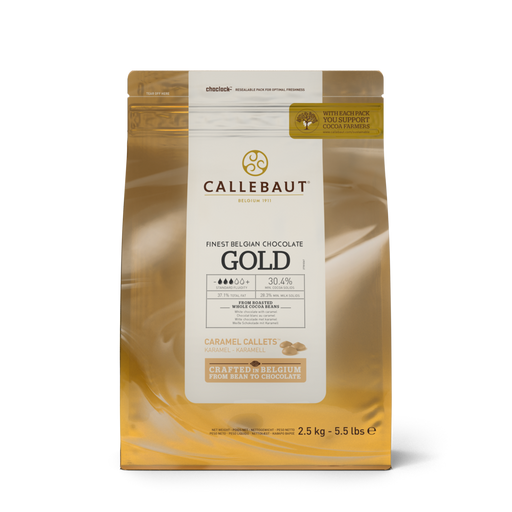 CALLEBAUT CHOCOLATE 250G GOLD