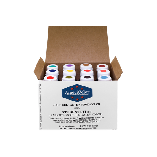 AMERICOLOR GEL COLOUR STUDENT KIT #3 12PC