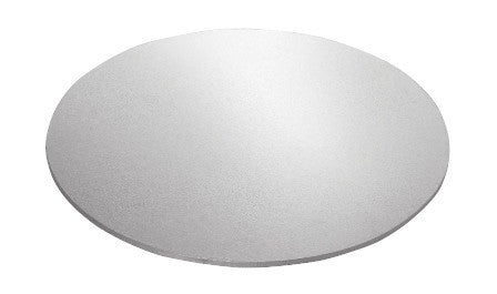 MASONITE BOARD ROUND SILVER 6""