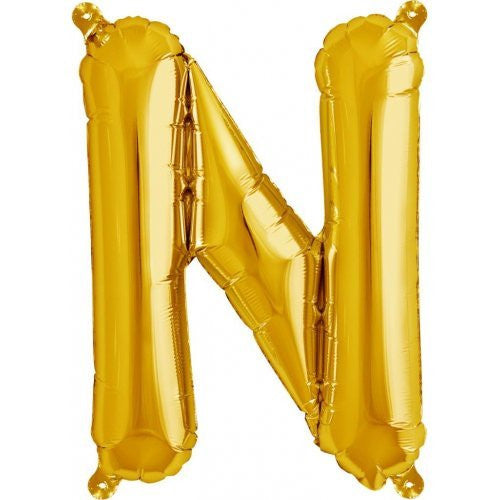 "ALPHABET BALLOON GOLD 16"" N"