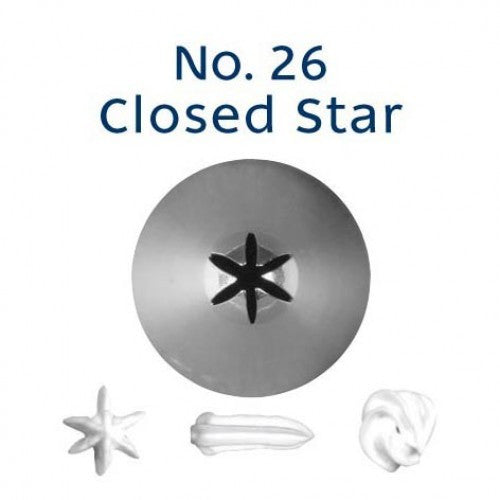 PIPING TIP CLOSED STAR #26