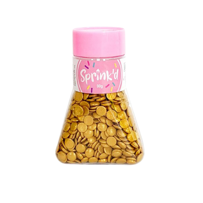 SPRINK'D SEQUINS 7MM GOLD 90G