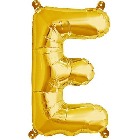 "ALPHABET BALLOON GOLD 16"" E"